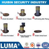 Road Safety System Semi Automatic Rising Bollard with Manual Control