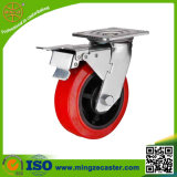 PU on PP Core Heavy Duty Casters with Total Brake