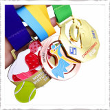 Factory Wholesale Custom Running Medal in Silver, Gold, Brass for Sports/School/Corporate Event Award Promotion Gift