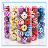 Christmas Stripe 6 Cm Painted 24 PCS Balls