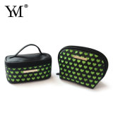 Hot Selling Promotional Heart Pattern Travel Cosmetic Bag Sets
