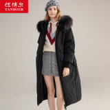 High Quality Luxury Women Winter Hooded Goose Down Jacket