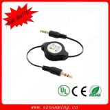 Factory Price 3.5mm Jack Retractable Audio Cable