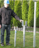 Hot DIP Galvanized Steel Ground Screw Anchor, Ground Screw