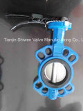API/ANSI/DIN/JIS Ductile Iron Wafer Butterfly Valve Without Pin