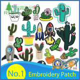 Cheap Custom Personalized Embroidered Badge Large Fabric Heat Transfer Iron on Clothes Back Car Scout Applique Flower USA Military Velcro Woven Embroidery Patch