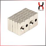 Custom Size Super Strong Magnetic Block with Countersunk Holes
