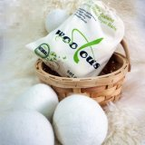 China Wholesale New Zealand XL 6 Pack Cotton Bag 100% Pure Natural Felt Laundry Organic Wool Dryer Balls
