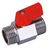 Male X Male Polished Chrome Brass Mini Ball Valve