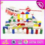 Colorful 80 Pieces Kids Wooden Toy Connecting Building Blocks Best Sale Children Wooden Intelligence Building Blocks W13A137