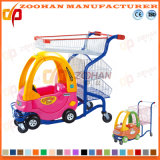 Supermarket Plastic Shopping Cart Trolley with Toy Car (Zht52)