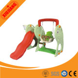 New Style Small Plastic Slide with Baby Swing