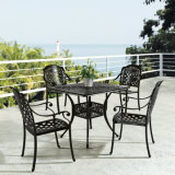Outdoor Garden Furniture Cast Aluminum Table with Chair (YTA817&YTD918)