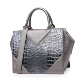 New Fashion Professional Croco PU Lady Handbag with SGS (ZX10276)