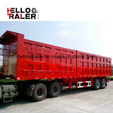 Strong Box Utility Trailer 3 Axle with Corrugated Steel Plate Made in China