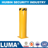Road Safety Fixed Steel Bollard with Reflective Tape