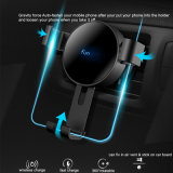 Gravity Force Car Mount/Holder with Wireless Fast Charger for Mobile Phones