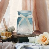 Gradient Colorful Glass Flower Vase for Home Decoration