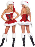 Sexy Lady Adult Santa Halloween Cosplay Christmas Costume
