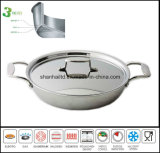 3 Layer Stainless Steel Frypan