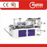 Automatic High Speed Two Line Polythene Garbage Plastic T-Shirt Bag Cutting Machine