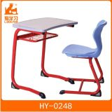 School Desk with Attached Chair of Studying Furniture