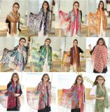 Ladies Fashion Voile Scarf Multi Printed Designs