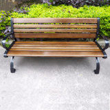 Outdoor Park Aluminum Bench with Back/Leg Cast Iron Chair