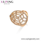 Luxury Flower Ring with Synthetic CZ