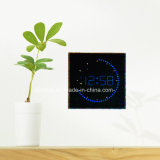 Circling LED Light Digital 12 Hour Format Time Wall Clock