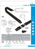 Series of 18 PA66 Flexible Plastic Hydraulic Hose Cable Carrier Chain Rubber Conveyor Belt