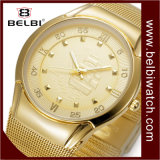 Belbi Business Ship Dial Design Quartz Movement Men Wristwatch