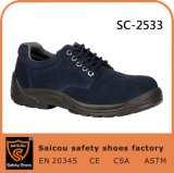 Saicou Cheap Work Shoes and PU Injection Leather Ankle Boots Sc-2533