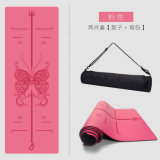 High Quality Exercise Rubber Mat PU Leather Natural Rubber Yoga Mat with Carrying Strap