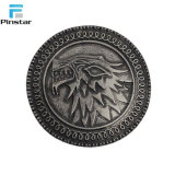 Souvenir Game of Thrones Stark Direwolf Shield Pin Lapel Metal Badges