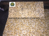 G682 Misty Yellow Granite with Bush-Hammered Surface for Paving Tiles