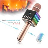 Wireless Bluetooth Karaoke Microphone - Portable KTV Karaoke with Speaker, LED Lights