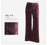 OEM Women Casual Trousers Sexy Flower Print Rayon Ladies Pants