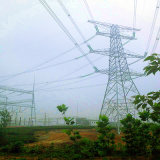 500 Kv Corner Power Transmission Angle Steel Tower (double circuits)