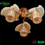 Yellow Color Glass Flower Vintage Fixture Pendant Lighting (X-9234/3)