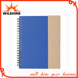 A5 Kraft Paper Blank Spiral Notebook with Pen for Wholesale (SNB137A)
