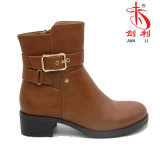 Lady European Style Chukka Metal Buckle Ankle Winter Tactical Boots (AB616)