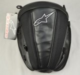 White Alpinestar Logo Waterproof Motorcycle Tail Bag