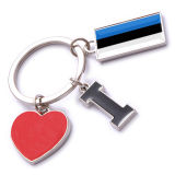 New Custom Metal Souvenir Estonia Keyring