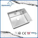 Single Bowl Handmade Stainless Steel Cupc Kitchen Sink (ACS6050R)