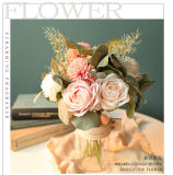 Artificial Flowers Rose Pompom Mum Bouquet Wedding Home Decoration Yc1001