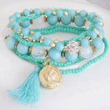 Newest Bohemia Retro Multi Rows Beaded Bracelet & Bangle, Fashion Jewelry