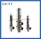 Stainess Steel Sanitary Pneumatic Stop Reversal Reversing Valve with Control Head