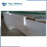 Modern Arc Shaped Customized White Small Reception Desk