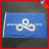 Double Sides Printed Indoor Shop Display Blue Flag